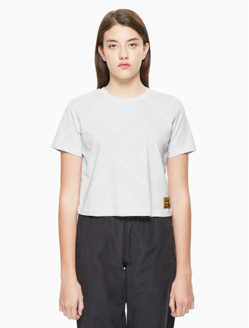 女士新款纯棉短款T恤 4BSKSS9