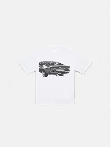 男士新款汽车印花1978系列纯棉T恤 J900103