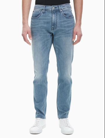 张艺兴同款男士新款简约舒适牛仔裤 J311774