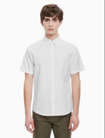 男士新款纯棉短袖衬衫 J312282