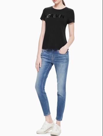 女士新款LOGO圆领短袖T恤 J211366