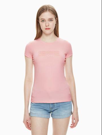 女士新款LOGO短袖圆领T恤 J211325