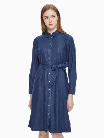 女士新款牛仔休闲梭织连衣裙 J211644