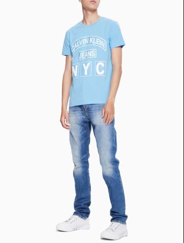 男士新款LOGO圆领短袖T恤 J312208