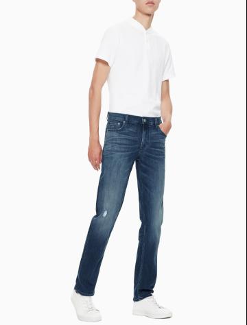 男士新款合体紧身版牛仔裤 J310796