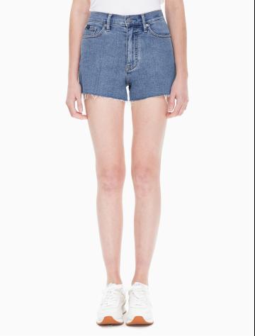 女士新款毛边牛仔短裤 J211848
