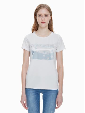 女士新款LOGO印花短袖T恤 J211316