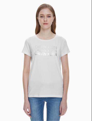 女士新款LOGO圆领短袖T恤 J211324
