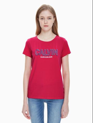 女士新款LOGO圆领短袖T恤 J211463