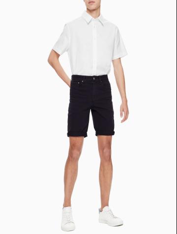 男士新款简约卷边休闲短裤 J311123
