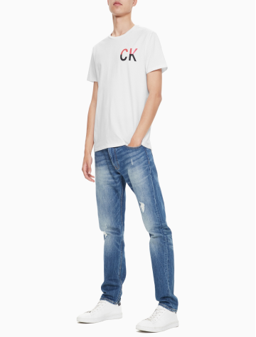 男士新款LOGO圆领短袖T恤 J312680