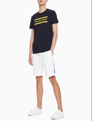 男士新款LOGO圆领短袖T恤 J312678