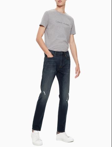 男士新款运动楔形版破洞牛仔裤 J311993