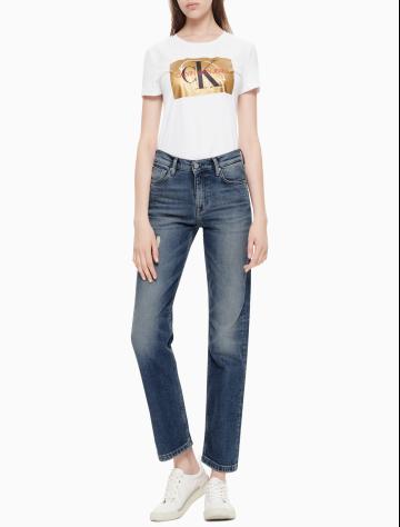 女士新款中腰直筒版牛仔裤 J210932