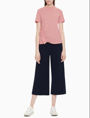 女士新款短袖纯棉上衣/T恤 W76052108C