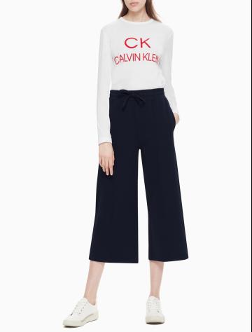 女士新款针织休闲裤/阔腿裤 W76075107C