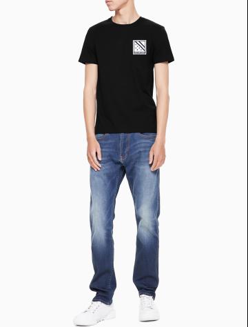 男士新款纯棉圆领短袖T恤 J312209