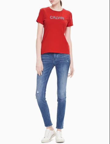 女士新款LOGO圆领短袖T恤 J211315