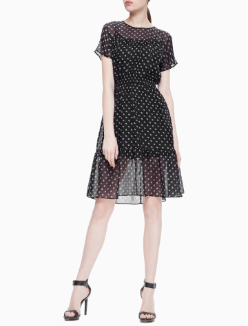 女士新款桑蚕丝梭织连衣裙 J210762