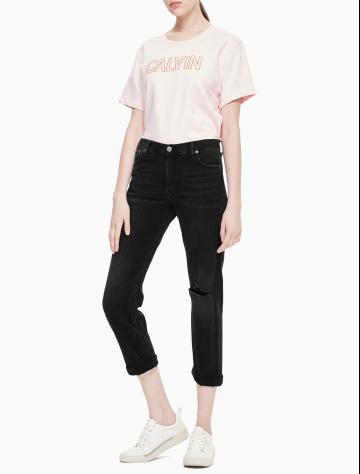 女士新款中腰男友版牛仔裤 J210933