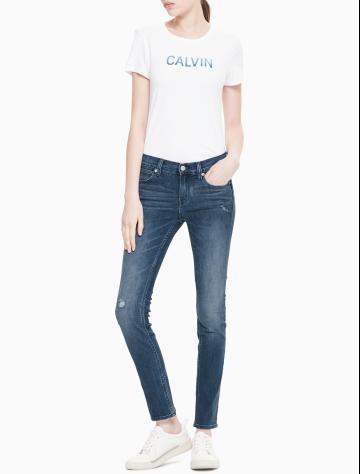 女士新款合体紧身版牛仔裤 J210940