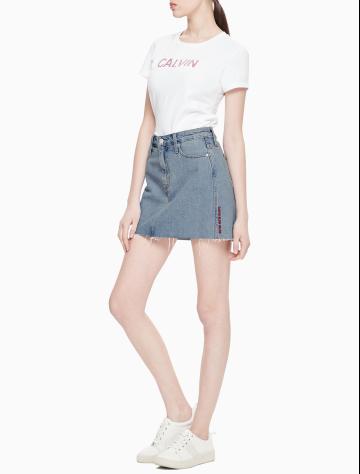女士新款纯棉牛仔短裙 J211063