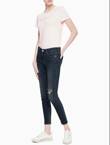 女士新款中腰紧身版牛仔裤 J211148