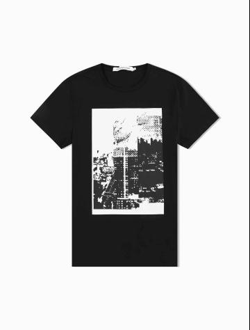 男士新款纯棉圆领短袖T恤 J312706