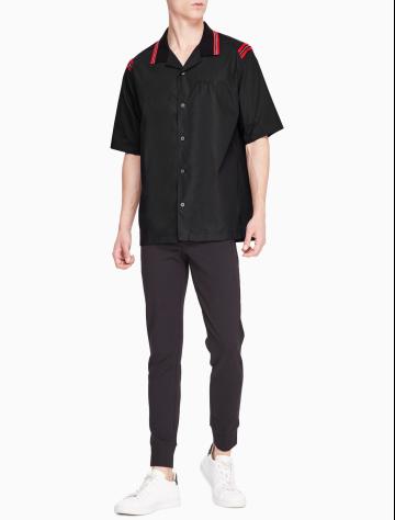 男士新款翻领商务休闲短袖衬衫 M52134C078