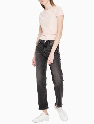 女士新款中腰直筒版牛仔裤 J211726