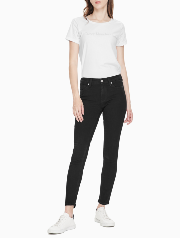 女士新款中腰紧身版牛仔裤 J211715