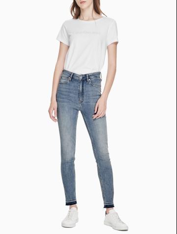 女士新款高腰紧身版牛仔裤 J210028