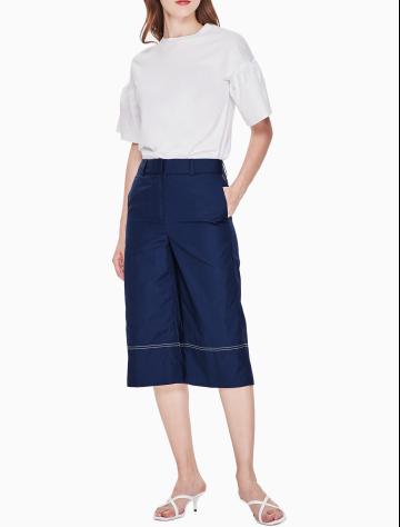 女士新款纯棉阔腿长裤 W22986PLWC028