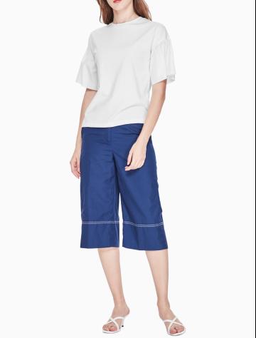 女士新款纯棉圆领短袖T恤 W76051108C