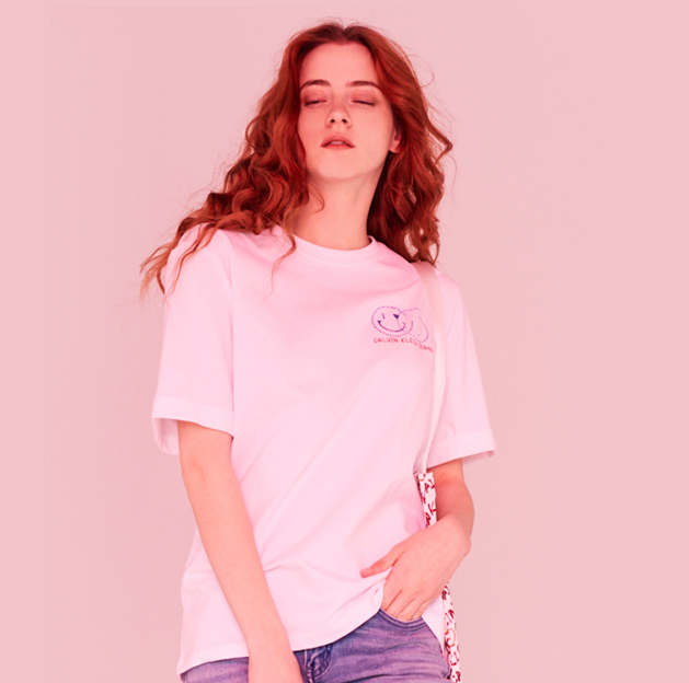 CALVIN KLEIN 【情人节情侣款】女士短袖T恤