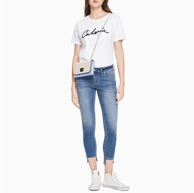 女装品牌Logo单肩斜挎链条背提包